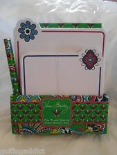 Vera Bradley On That Note Emerald Paisley stationary pen paper 12977 169