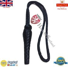 BRITISH RIFLE TANK REGT SWORD KNOT BLACK LEATHER/ARMY/NAVY OFFICER SWORD KNOT