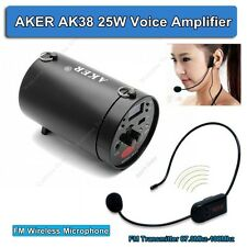 AKER AK38 25W Voice Booster Amplifier  With FM Wireless Mic For Speaker Teacher