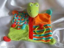 Doudou dinosaure, crocodile, étiquettes, anneau de dentition, Baby Club