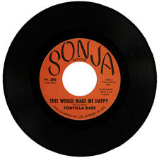 """FONTELLA BASS  """"THIS WOULD MAKE ME HAPPY c/w POOR LITTLE FOOL""""   60's   LISTEN!"""