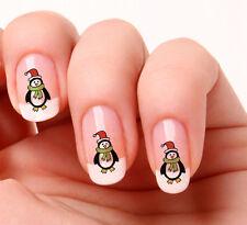20 Adesivi Decalcomanie per Unghie #446 Pinguino Natale Stacca e Attacca