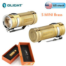 Olight S MINI Brass Cree Cool White LED 550 Lumens EDC Flashlight CR123A Battery