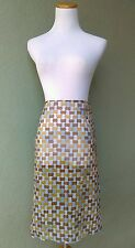 PRADA Mosaic Printed Silk Chiffon Sheer Skirt New With Tags Sz 42 (US size 4)