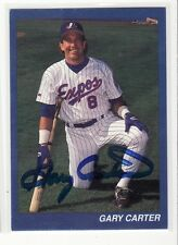 GARY CARTER MONTREAL EXPOS DECEASED AUTOGRAPHED CARD IN OK SHAPE
