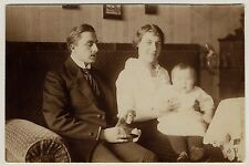 "FAMILIE & STEIFF AFFE ""JOCKO"" MONKEY FAMILY * Foto-AK um 1910 Real Photo PC"