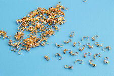 New Calottes End Crimps Beads Ball Chain Connector Clasp Rose Gold, 60 Qty