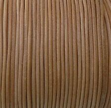 Imported India Leather Cord 2mm Round 5 Yards Natural 2