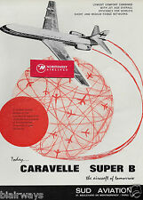 SUD AVIATION CARAVELLE SUPER B IN FINNAIR SERVICE 1964 1,200,000 FLYING HRS AD