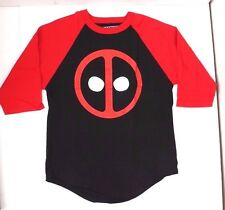 Marvel Comics Dead Pool Deadpool 3/4th Sleeve Baseball T-Shirt New Medium NWT