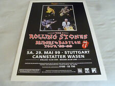 THE ROLLING STONES BRIDGES TO BABYLON TOUR 98-99 POSTER RADEBERGER PRASENTIERT