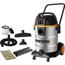 Bostitch 38-Litre (10-Gallon) 6 HP 2-Stage Motor Stainless Steel Wet/Dry Vacuum