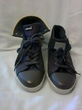 Levi's mens sneakers.  Size 7. Gray with yellow zipper. L@@k.
