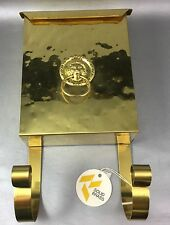 Hammered Brass Mail Box With Paper Hook NOS Lions Head Made In USA