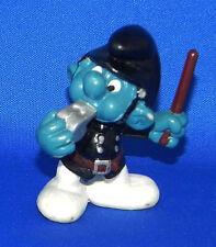 Vintage Smurfs Schleich PVC Police Bobby 1981 Peyo Policeman Officer