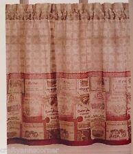 Merlot Wine 36L Tier Set Kitchen Curtains Chf
