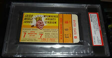 1958 WORLD SERIES GAME 7 TICKET NY YANKEES CLINCH 18TH WS TITLE CHAMPIONS PSA