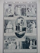 1915 HOSPITAL NURSE IN FRANCE & RUSSIA RED CROSS PARIS IDA RUBINSTEIN WW1 WWI