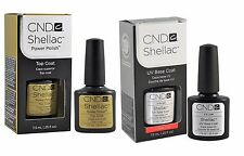 CND Shellac Top and Base Coat Set Soak Off GEL .25 oz Gel Polish