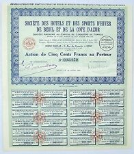 Dépt 06 - Beuil - Superbe Décor Hotels de la Station de Ski de Beuil  18/06/1931