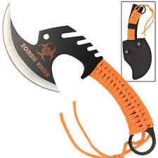 Apocalypse ZOMBIE KILLER Skullsplitter Steel Throwing Axe Hatchet Orange