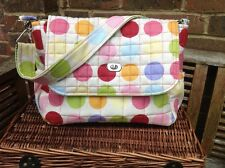 "Cushi cots Handmade baby changing bag ""spotty dotty"" new"