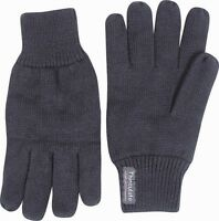 MENS THERMAL THINSULATE KNITTED FULL FINGER GLOVES WINTER WARM WOOLLY MITTS