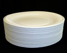 "200 9"" Paper PLATES - - - Disposable white party ware light weight high quality"