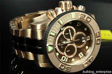 Mens Invicta 10769 Sea Hunter Rose Gold Stainless Chronograph Swiss Watch New