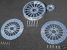 SUPER SPOKE PULLEY W/FRONT & REAR SS HARLEY ROTORS FLSTF FAT BOY SOFTAIL