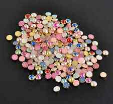 200pcs 3D 4mm Acrylic Decor Nail Art Charms Bling Rhinestone Pearl Tips DIY CND