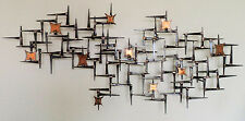 By Corey Ellis Brutalist Mid Century nail Wall Sculpture C Jere William Bowie