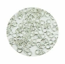 400 Jump Rings Silver-plated Brass 5mm Round 18 Gauge Open Approx 3mm Inside