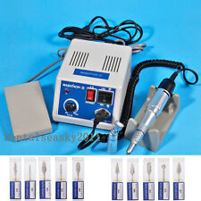 Dental Electric Marathon N3 Micromotor + Straight Contra Angle Handpiece 10 Burs