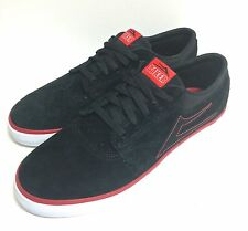 """New"" LAKAI BAKER SKATE SHOES black suede US size 11 and Euro 45 skateboard"
