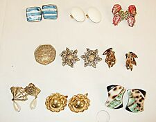 BEAUTIFUL VINTAGE COLLECTION LOT 8 QUALITY CLIP EARINGS AS SHOWN IN PHOTOGRAPH