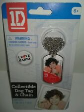 BRAND NEW COLLECTIBLE 1 DIRECTION DOG TAG & CHAIN (Harry)
