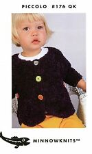 MinnowKnits 176QK Knitting Pattern Piccolo Baby's Scallop Edged Jacket NB-24mos