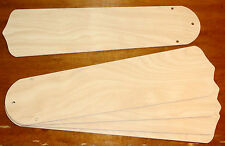 "MAPLE Set of 5 Replacement 52"" CEILING FAN BLADES 20.5"" x 5.5"" NEW 3-Hole Mount"