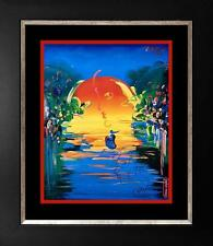 Peter Max Mixed Media on paper A Better World Lot 362
