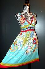 RENE DERHY ROBE DRESS ABYSSINIE  FOLK  CABOCHONS PERLES TM OU 38/40