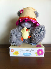 Me To You Grey Tatty Teddy Grey Bear with Chick & Hat Easter Gift