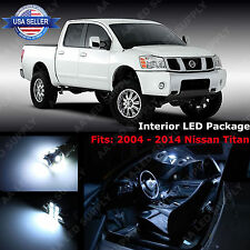 17 x White LED Light Interior Package Deal Kit For 2004 - 2014 Nissan Titan