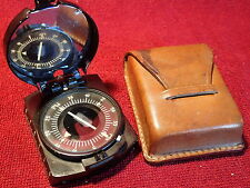 dated 1958 POLAND POLISH MILITARY COMPASS , WORKING CONDITION w LEATHER CASE