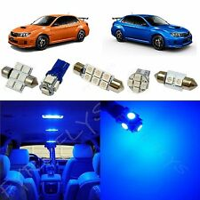 6x Blue LED lights interior package kit for 2004 & Up Subaru WRX SW1B