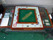 Winning Solutions Monopoly Luxury Edition Board Game, 2009 Hasbro Wooden Cabinet