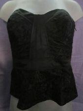 FANTASTIC BLACK LACE BONED AND FULLY LINED STRAPLESS BUSTIER SIZE 12 BNWT