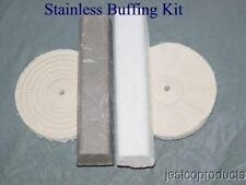 """Stainless Buffing kit Aluminum Mag Wheel Brass polish with 8"""" buffing wheels"""