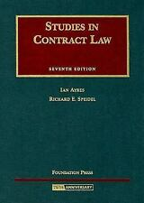 University Casebook: Studies in Contract Law by Richard E. Speidel and Ian...