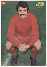 NIGEL CASSIDY SCUNTHORPE UNITED 1968-1971 RARE ORIGINAL SIGNED MAGAZINE CUTTING